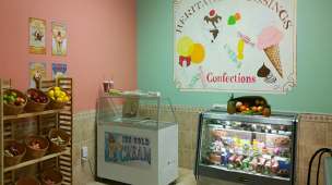 inside the ice cream store